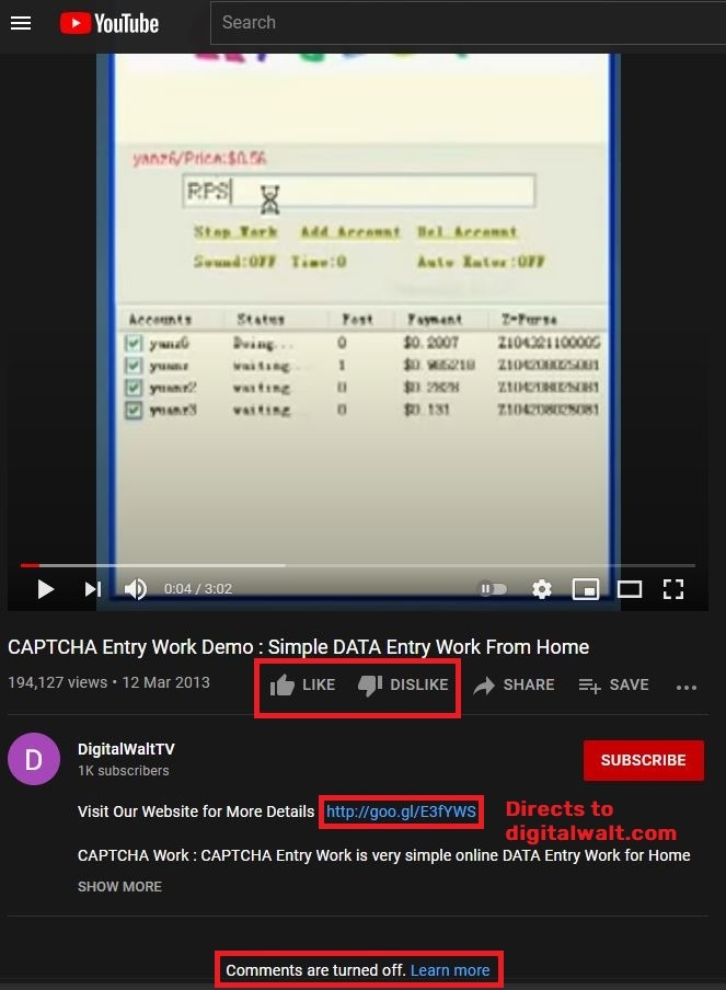 fake youtube demo digitalwalt