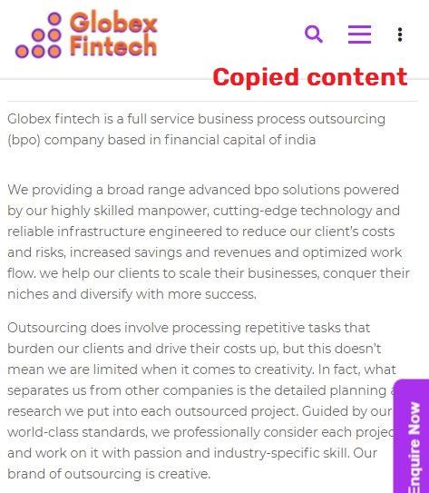globex fintech globexfintech scam  fake about us