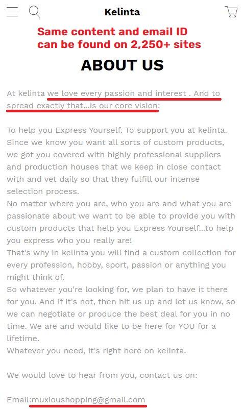 kelinta scam uniqueness about us