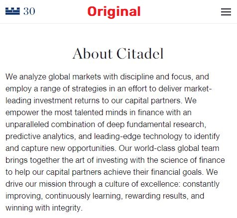 citadel about us page