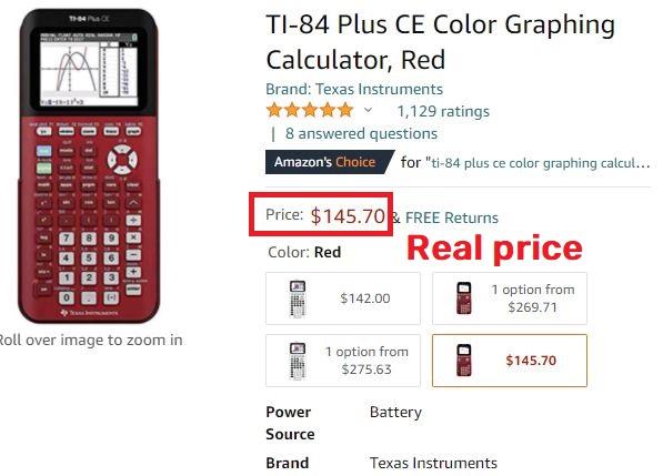 ti-84 real price amazon