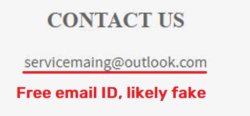 goshop kendall.today scam fake email ID servicemaing@outlook.com