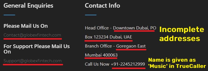 globex fintech globexfintech scam contact information