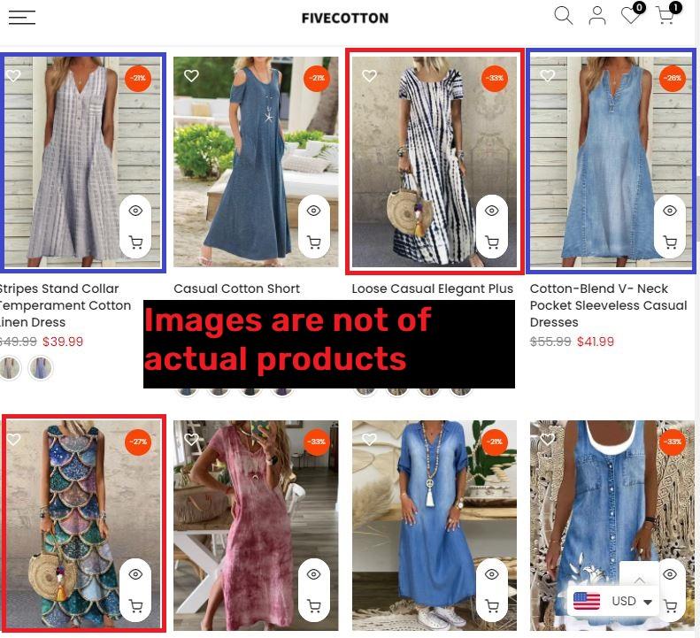 fivecotton scam edited images