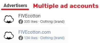 fivecotton scam facebook ad accounts