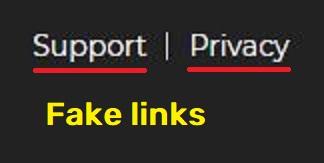 globex fintech globexfintech scam fake privacy policy link