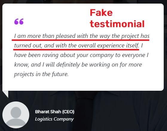 globex fintech globexfintech scam  fake testimonial 1
