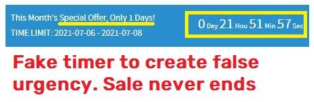 cglmn scam fake timer