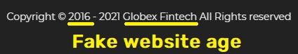 globex fintech globexfintech scam fake website age