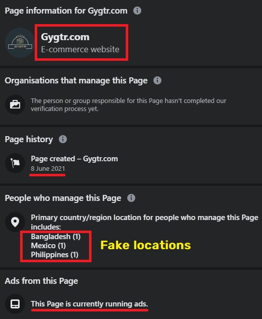 Gygtr.com facebook page info