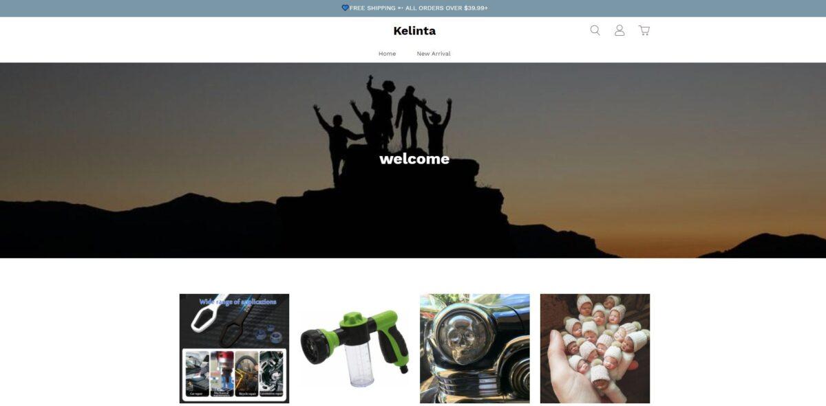 kelinta scam home page