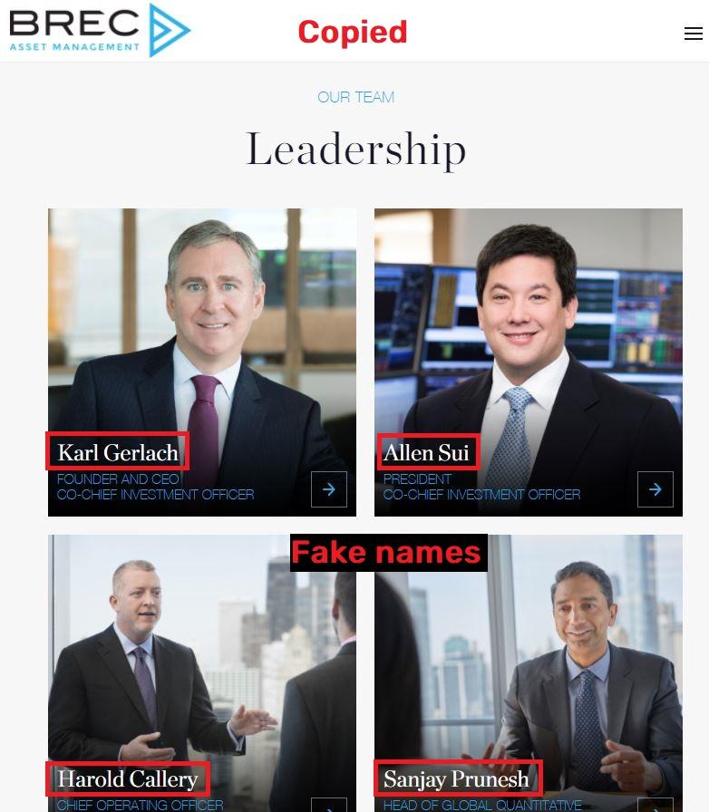 brec scam fake leadership
