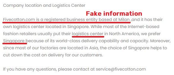 fivecotton scam fake information milan