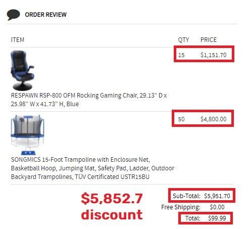 goshop kendall.today scam fake order total