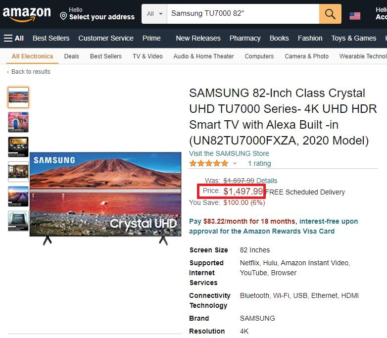 samsung tu7000 tv real price