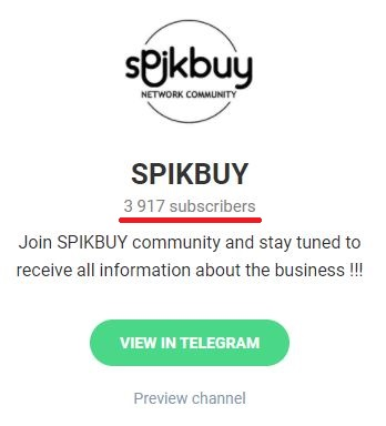 spikbuy scam telegram channel