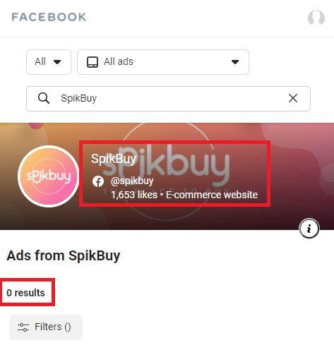 spikbuy scam facebook ad data