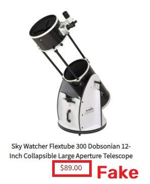 cglmn scam telescope fake price