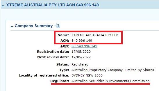 actual company registration