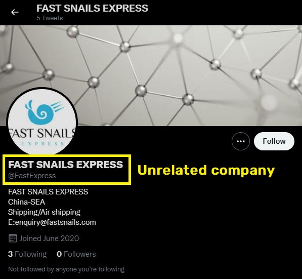 fastexpress real twitter account