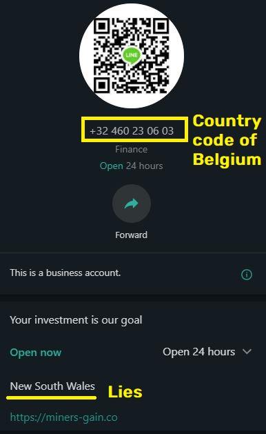 miners-gain scam belgium whatsapp number