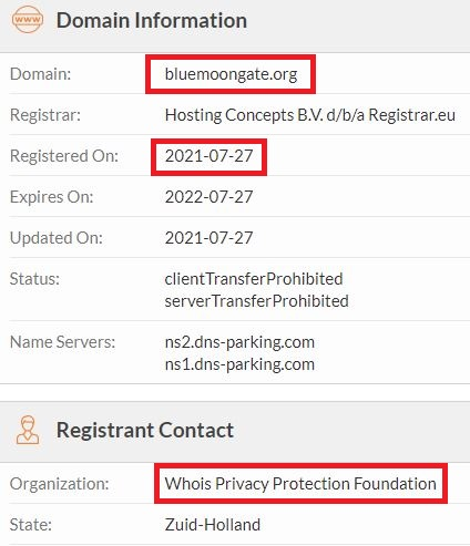 bluemoongate scam whois