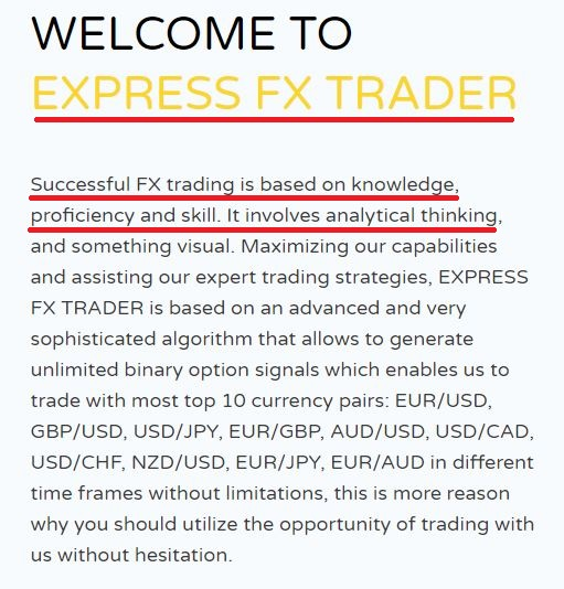 express fx trade fake about us content
