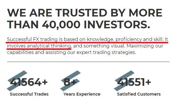 fake investment platform copied content