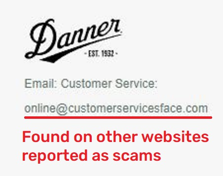 dannerofficial scam email ID online@customerservicesface.com