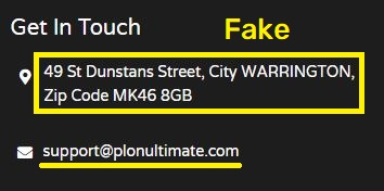 plonultimate scam fake contact details