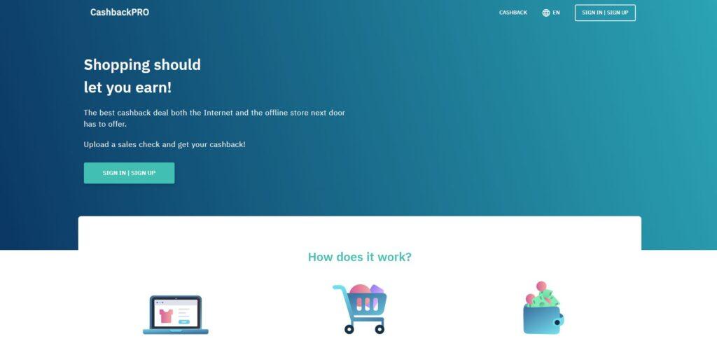 inb network cashbackpro scam home page