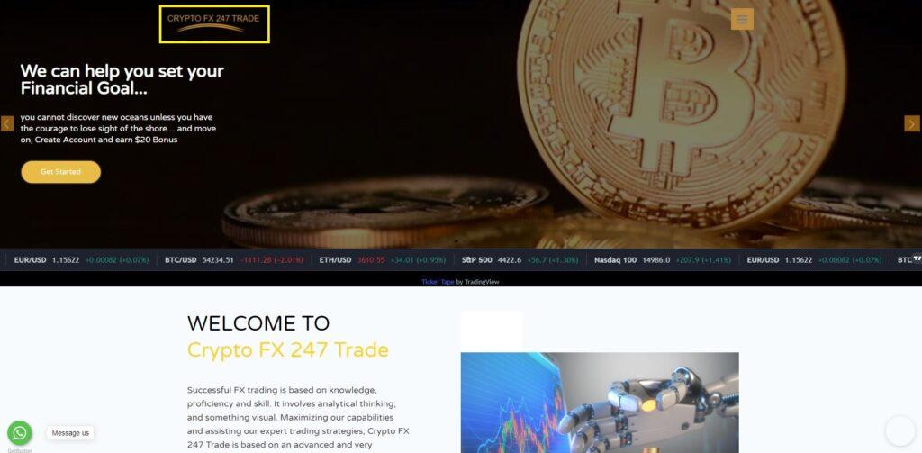 crypto fx 247 trade scam home page