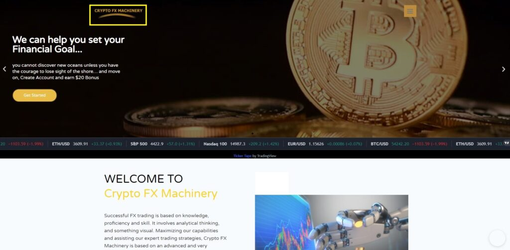crypto fx machinery scam home page