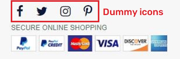 dannerofficial scam fake social media icons