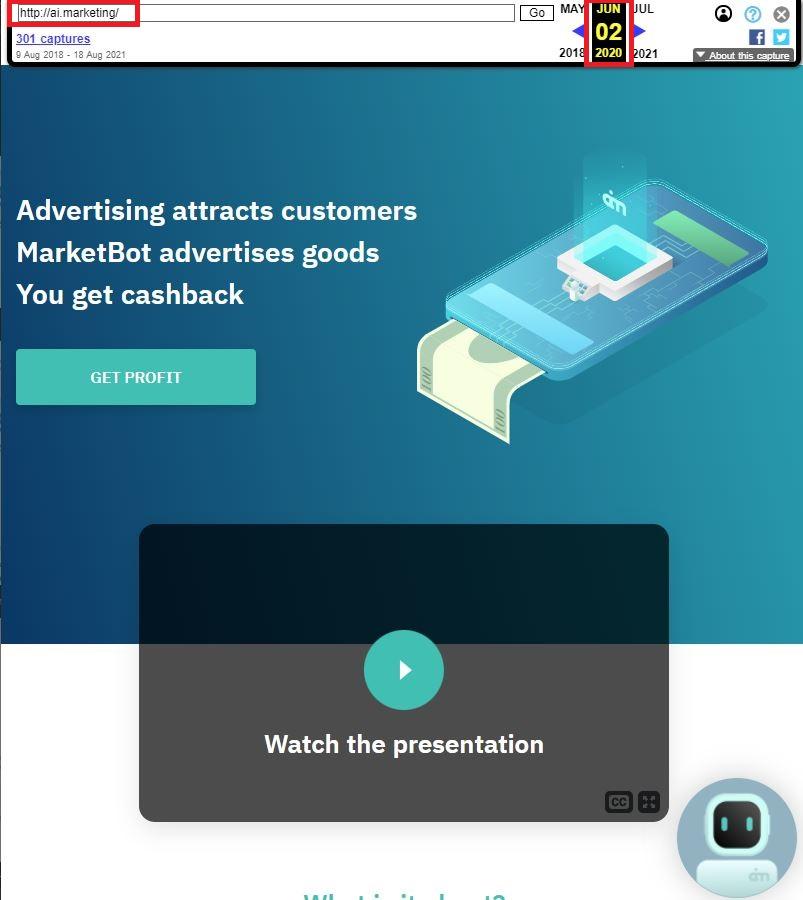 inb network ai marketing scam wayback 1